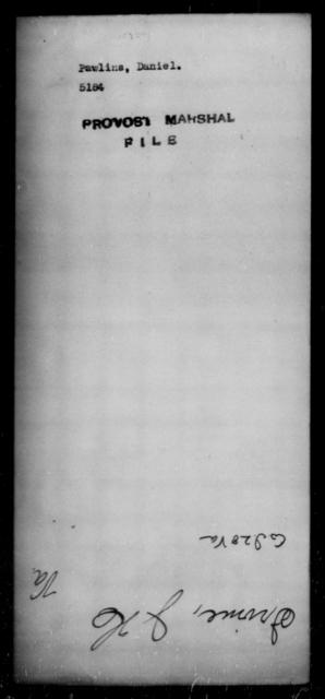 Pawlins, Daniel - State: [Blank] - Year: [Blank]