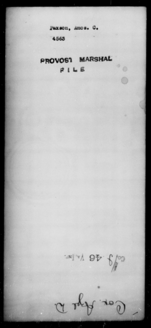 Paxson, Amos C - State: [Blank] - Year: [Blank]