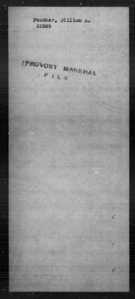 Peacher, William A - State: [Blank] - Year: [Blank]