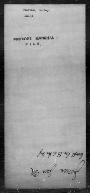 Pearson, Manley - State: [Blank] - Year: [Blank]