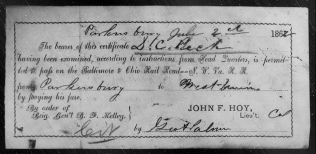Peck, D C - State: Ohio - Year: 1862