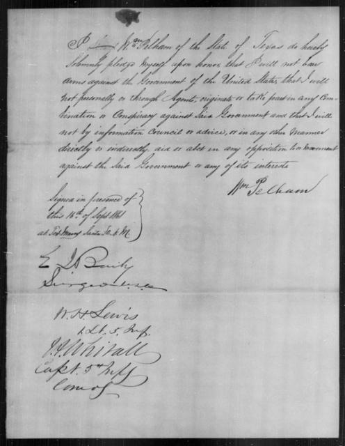 Pelham, Wm - State: Texas - Year: 1861