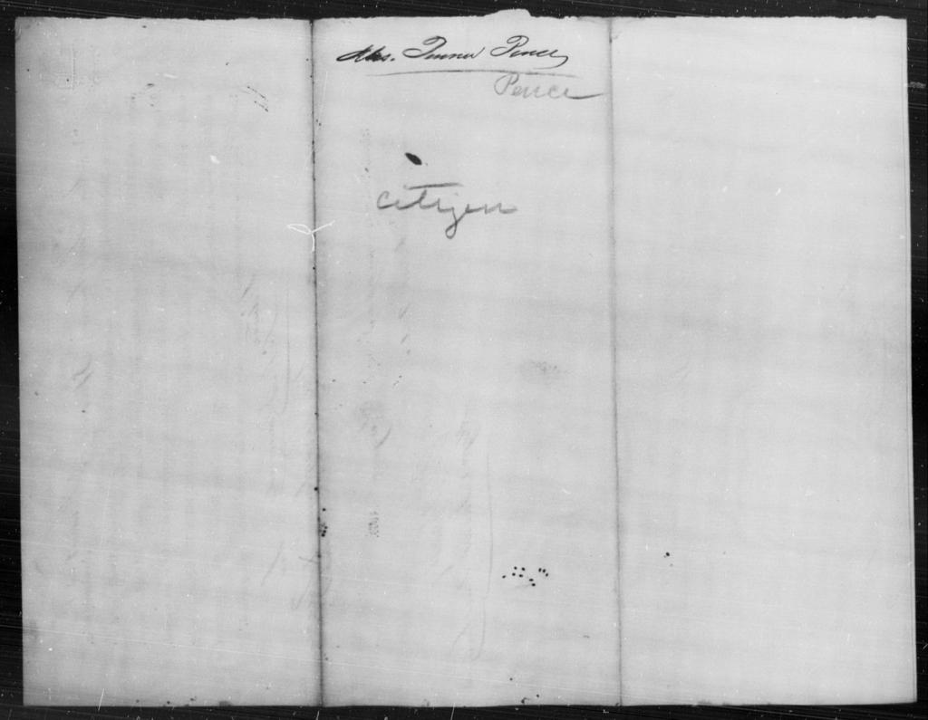 Pence, Penren - State: [Blank] - Year: [Blank]