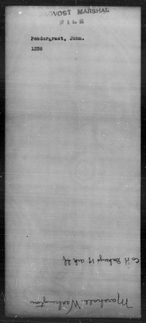 Pendergrast, John - State: [Blank] - Year: [Blank]