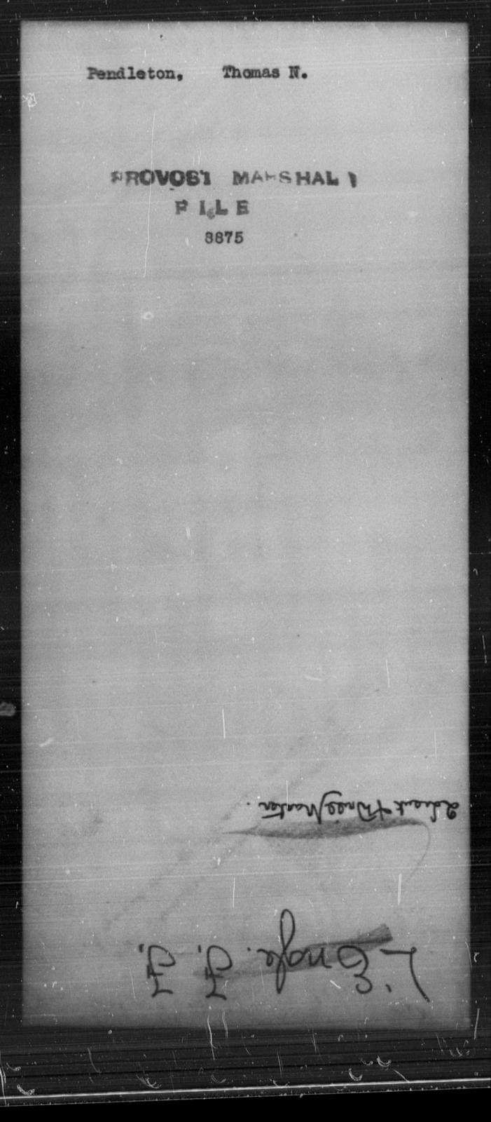 Pendleton, Thomas N - State: [Blank] - Year: [Blank]