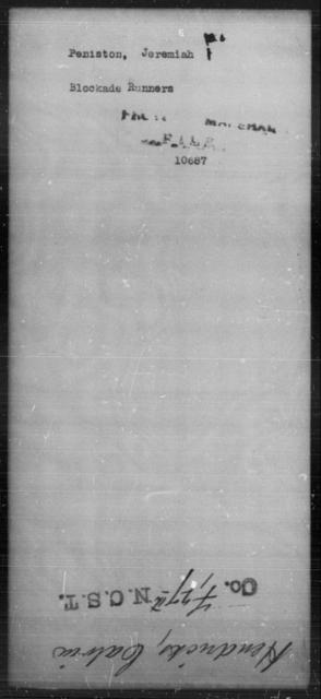 Peniston, Jeremiah - State: [Blank] - Year: [Blank]