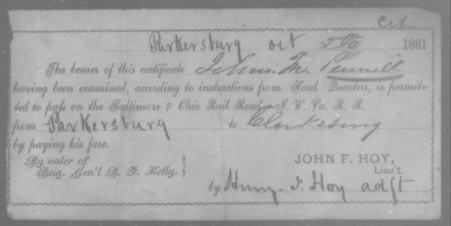 Pennell, John M - State: Ohio - Year: 1861