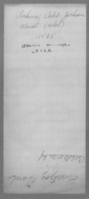 Perkins, Caleb Jackson - State: [Blank] - Year: [Blank]
