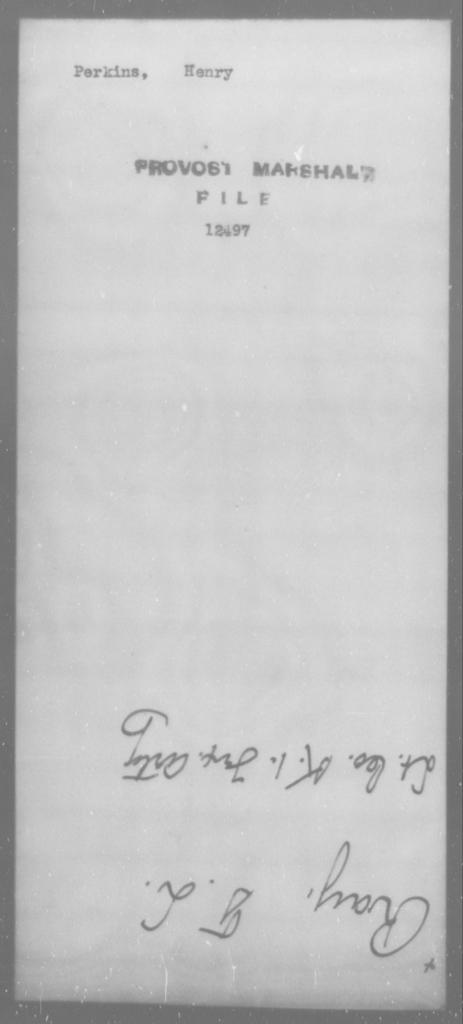 Perkins, Henry - State: [Blank] - Year: [Blank]
