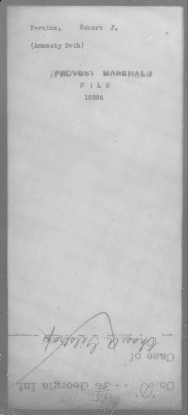 Perkins, Robert J - State: [Blank] - Year: [Blank]