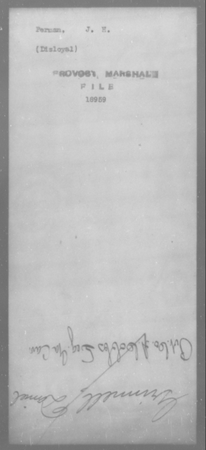 Perman, J H - State: [Blank] - Year: [Blank]