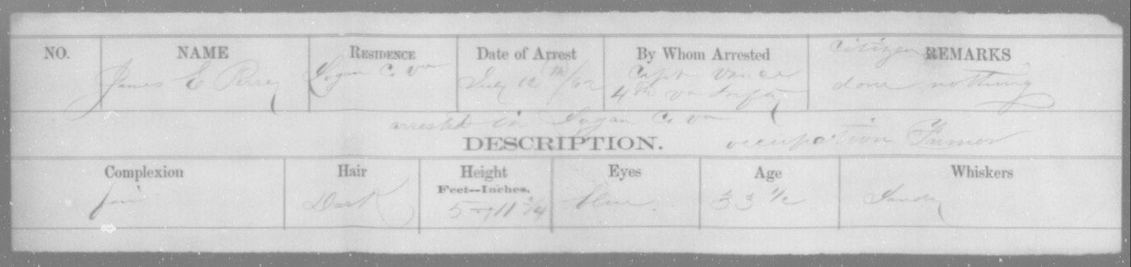 Perry, James E - State: Virginia - Year: 1862