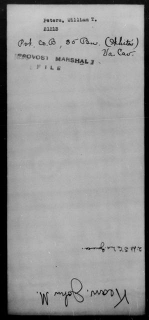 Peters, William T - State: Virginia - Year: [Blank]