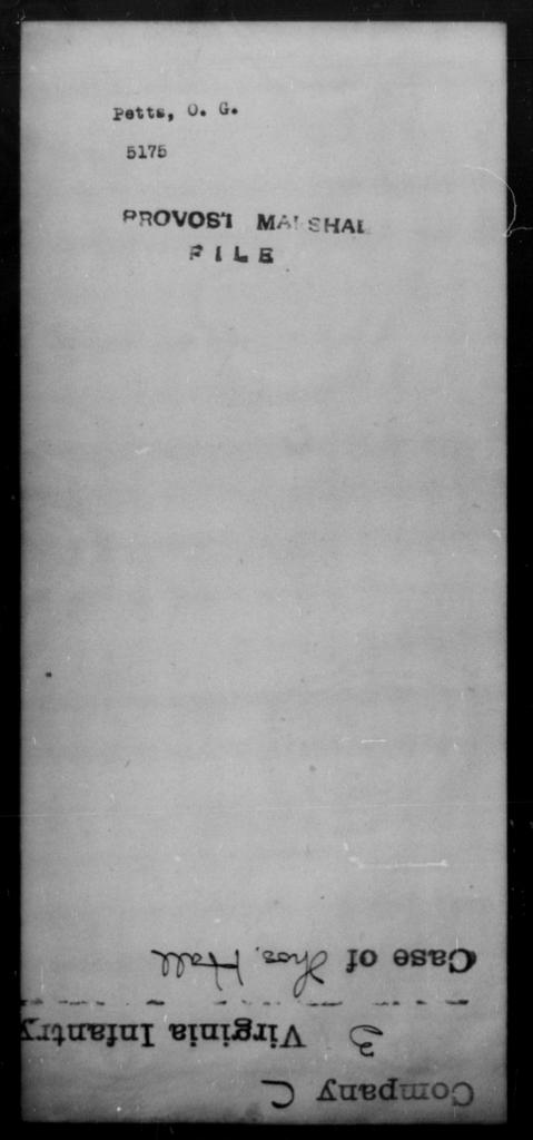 Petts, O G - State: [Blank] - Year: [Blank]
