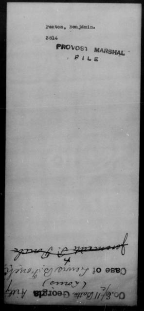 Pexler, Benjamin - State: [Blank] - Year: [Blank]