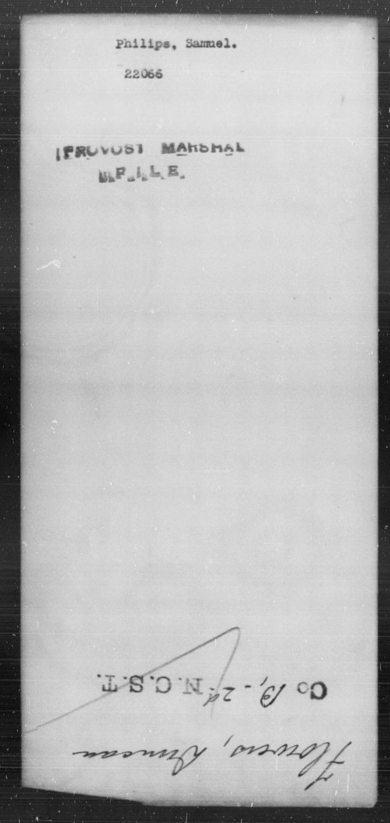 Philips, Samuel - State: [Blank] - Year: [Blank]