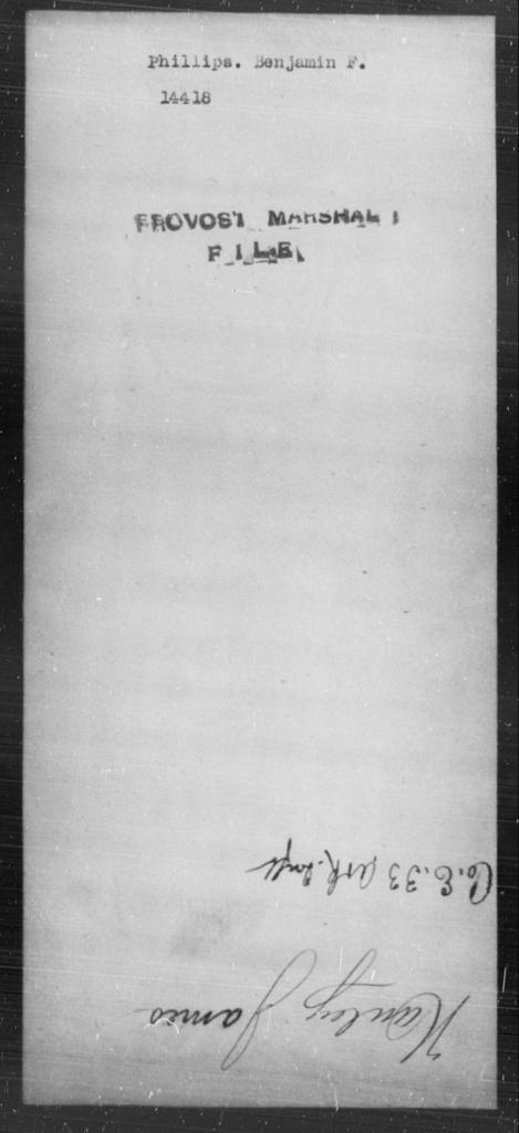 Phillips, Benjamin F - State: [Blank] - Year: [Blank]