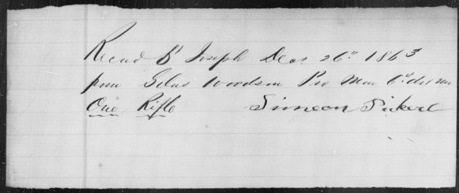 Pickett, Simeon - State: [Blank] - Year: 1863