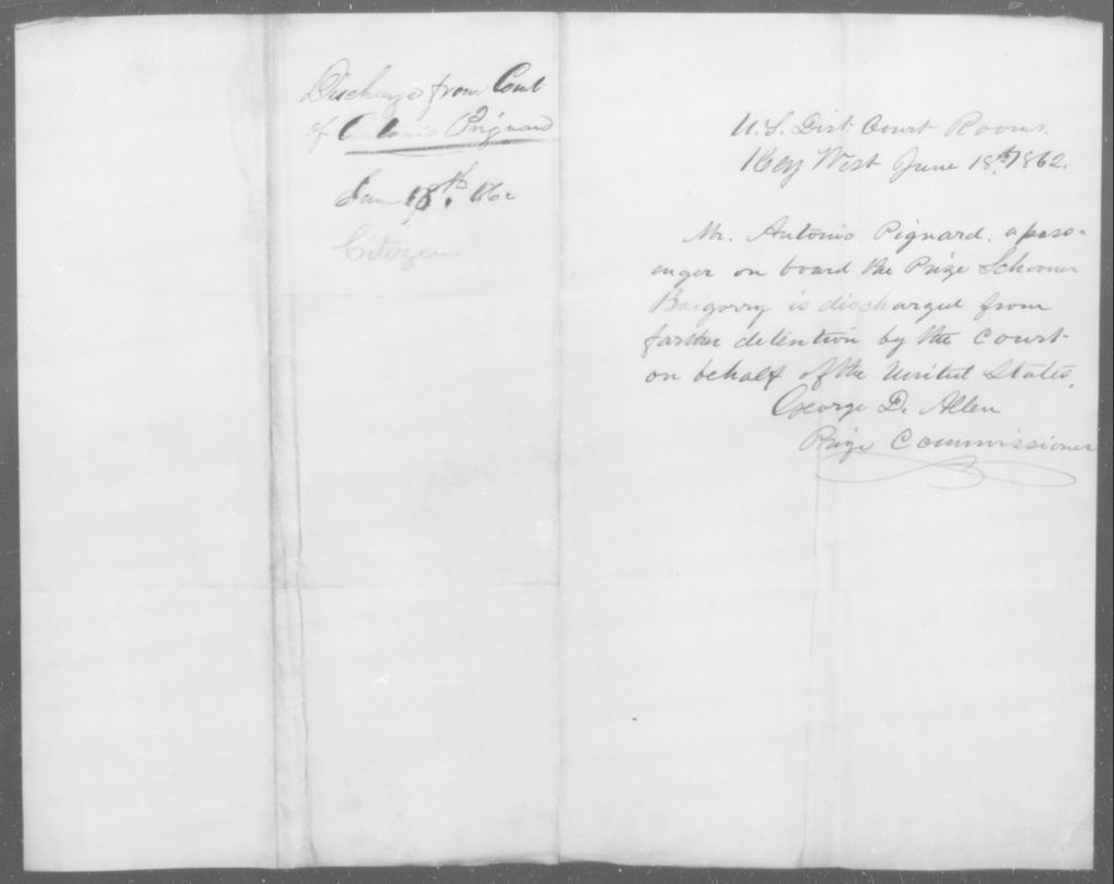 Pignard, Antonio - State: [Blank] - Year: 1862
