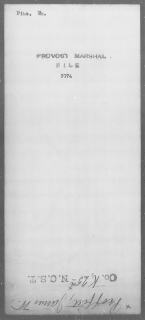 Pike, Wm - State: [Blank] - Year: [Blank]