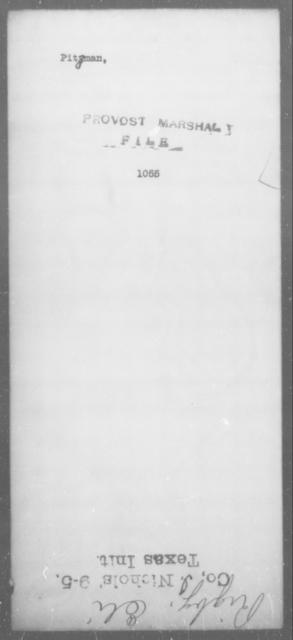 Pitzman, [Blank] - State: [Blank] - Year: [Blank]