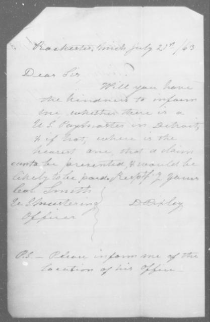 Pixler, D - State: [Blank] - Year: 1863
