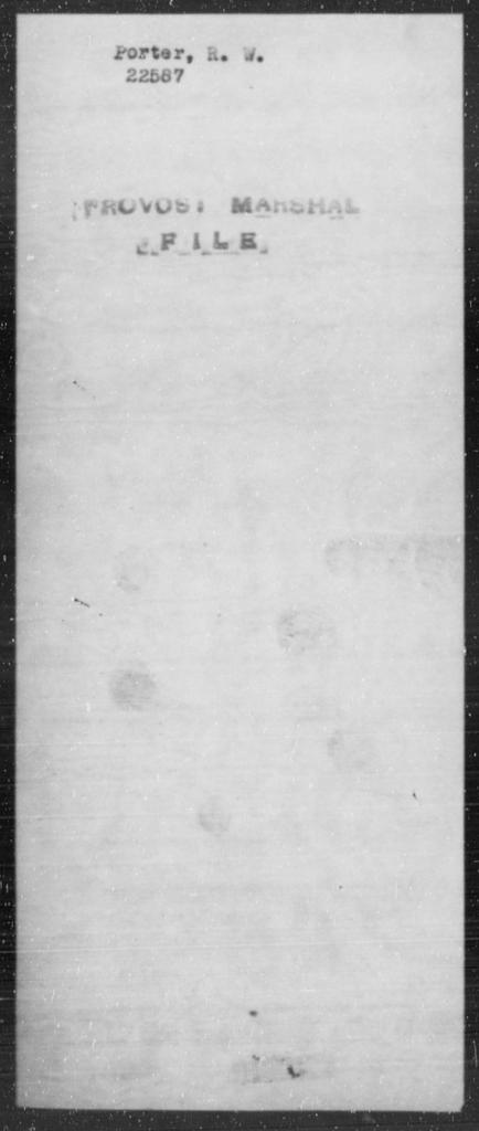 Porter, R W - State: [Blank] - Year: [Blank]