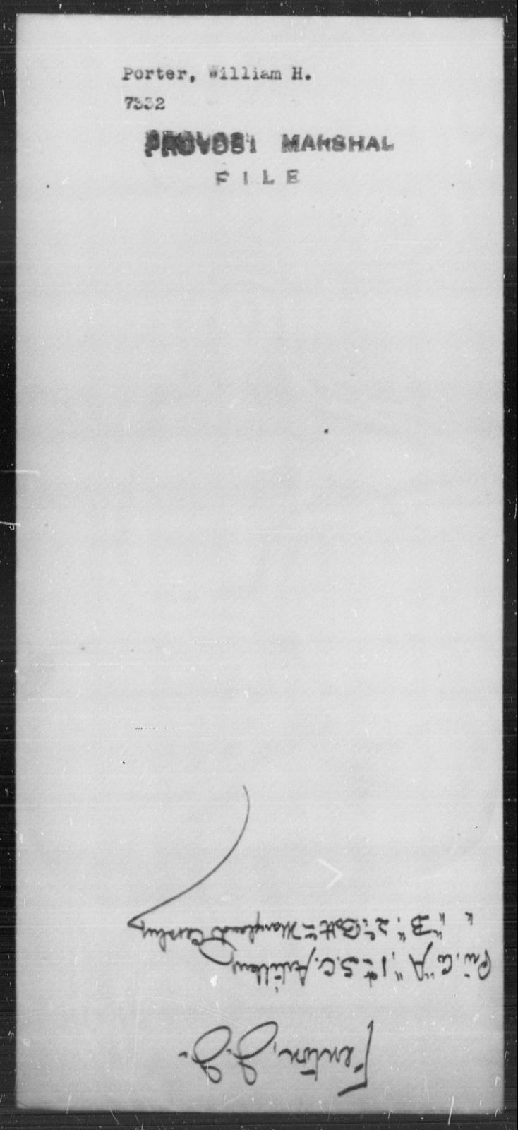 Porter, William H - State: [Blank] - Year: [Blank]