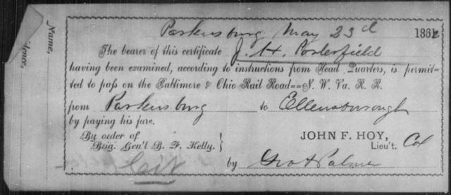 Porterfield, J H - State: Ohio - Year: 1862