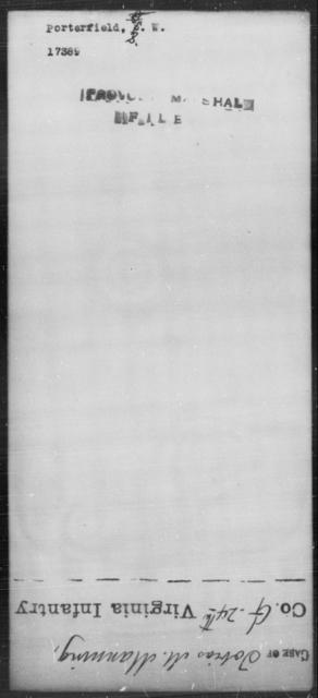 Porterfield, S W - State: [Blank] - Year: [Blank]