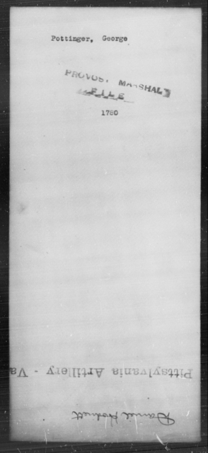 Pottinger, George - State: [Blank] - Year: [Blank]