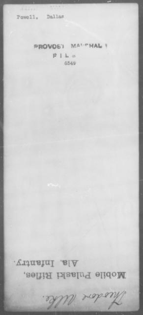 Powell, Dallas - State: [Blank] - Year: [Blank]