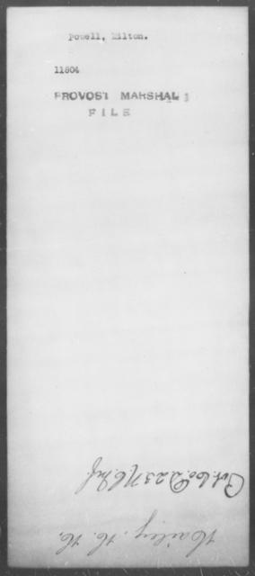 Powell, Milton - State: [Blank] - Year: [Blank]