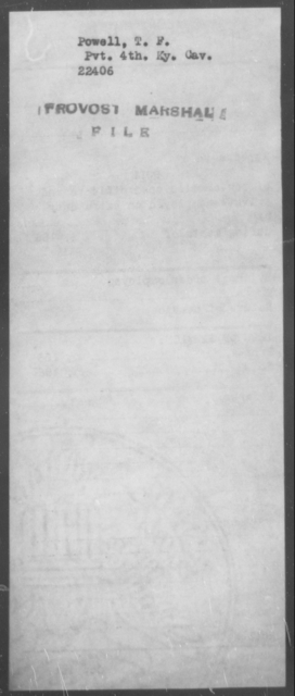 Powell, T F - State: Kentucky - Year: [Blank]
