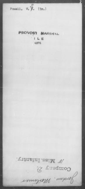 Powell, W T - State: [Blank] - Year: [Blank]