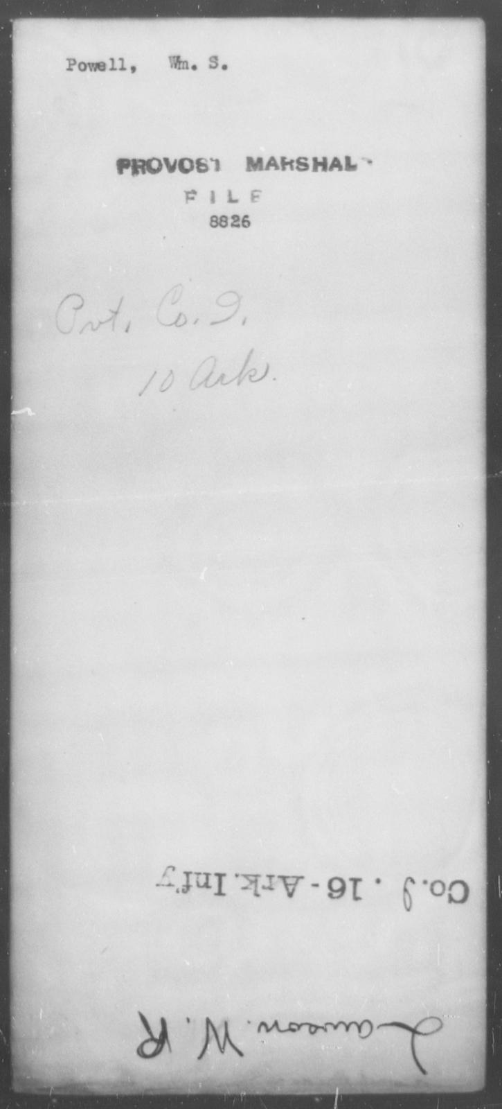 Powell, Wm S - State: [Blank] - Year: [Blank]