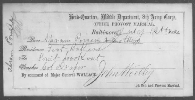 Powers, Abram - State: [Blank] - Year: 1864