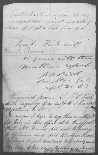Powers, B - State: [Blank] - Year: 1863