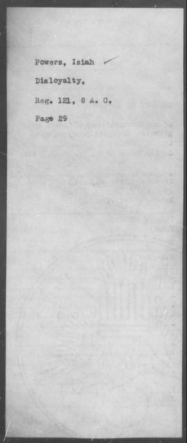 Powers, Isiah - State: [Blank] - Year: [Blank]