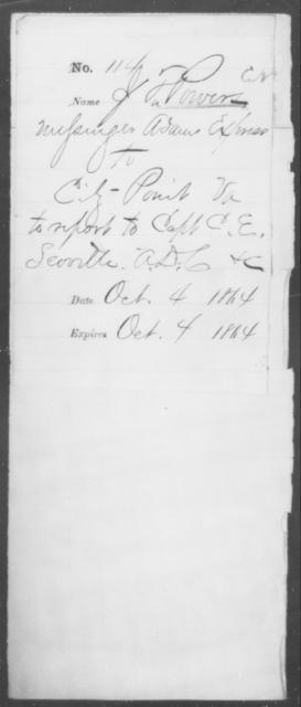 Powers, J P - State: Virginia - Year: 1864