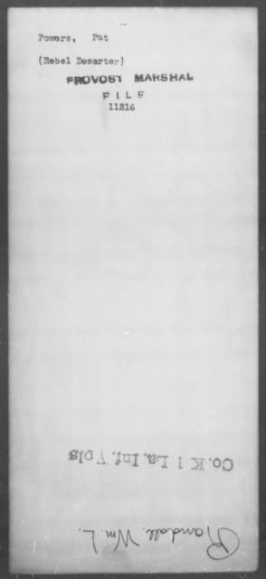 Powers, Pat - State: [Blank] - Year: [Blank]