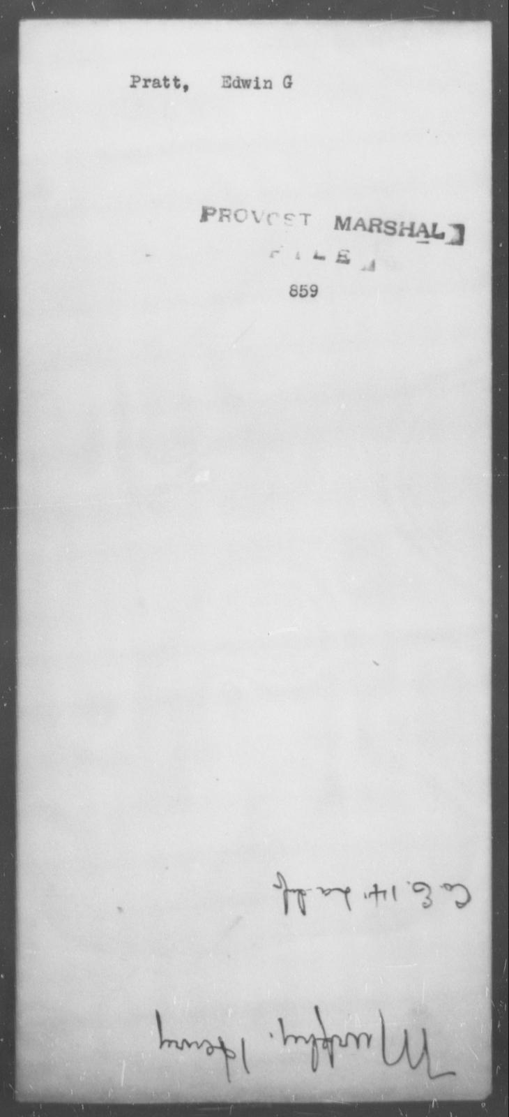 Pratt, Edwin G - State: [Blank] - Year: [Blank]
