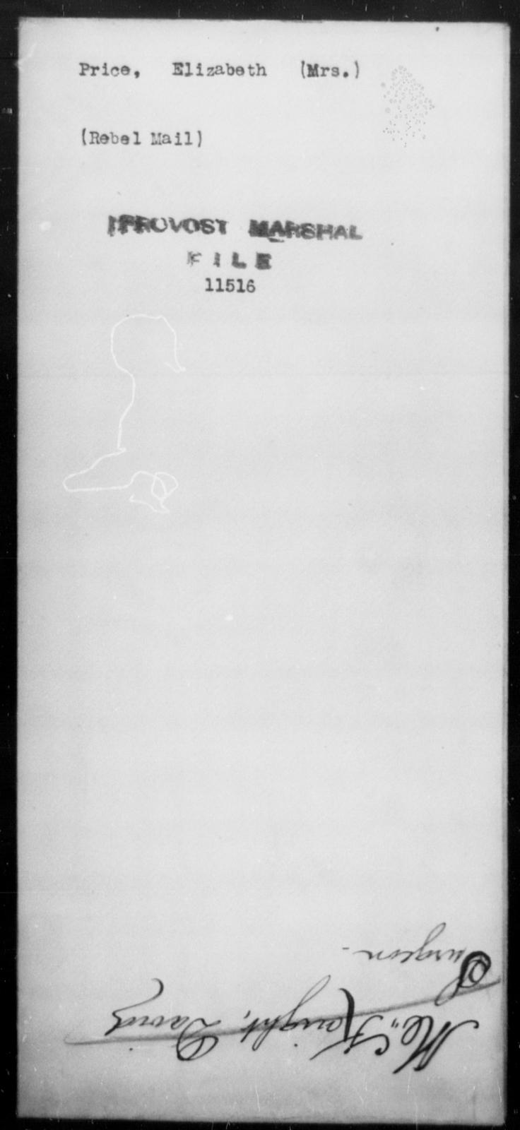 Price, Elizabeth - State: [Blank] - Year: [Blank]