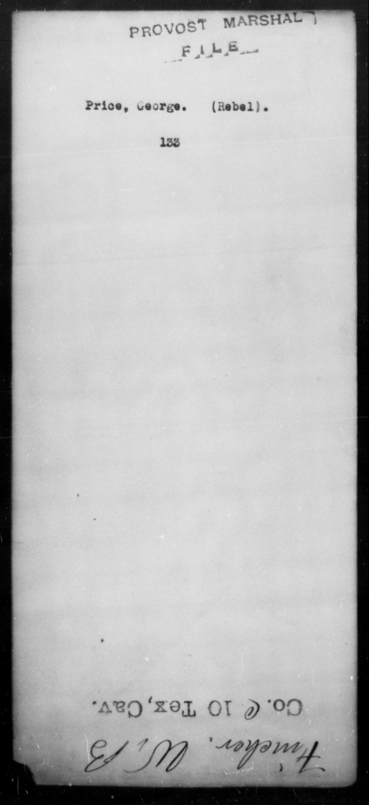 Price, George - State: [Blank] - Year: [Blank]