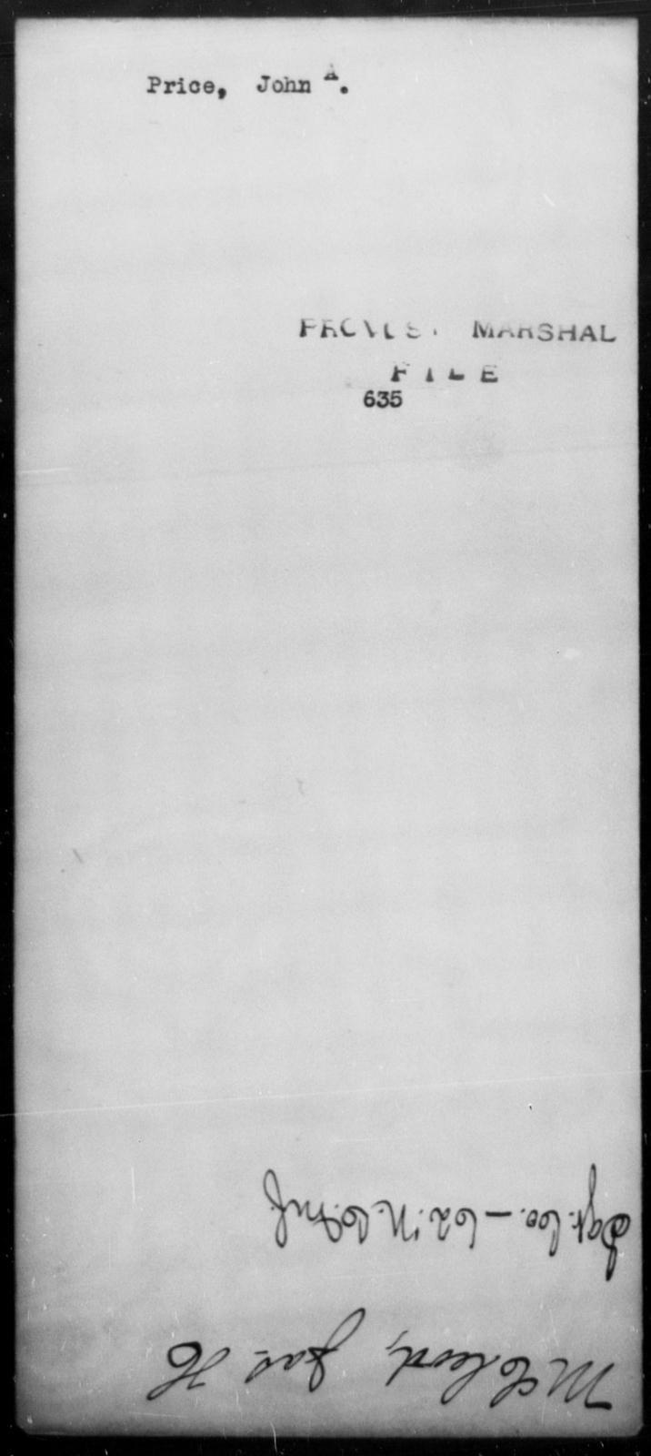 Price, John A - State: [Blank] - Year: [Blank]