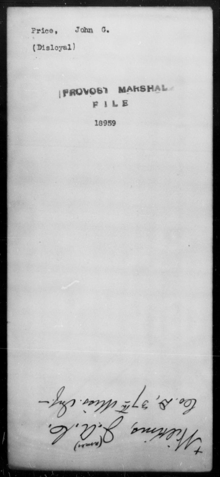 Price, John G - State: [Blank] - Year: [Blank]