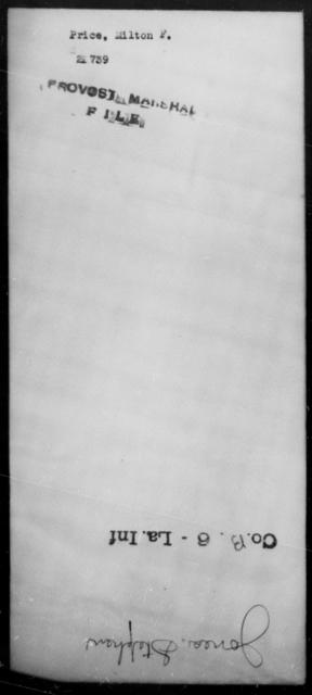 Price, Milton F - State: [Blank] - Year: [Blank]