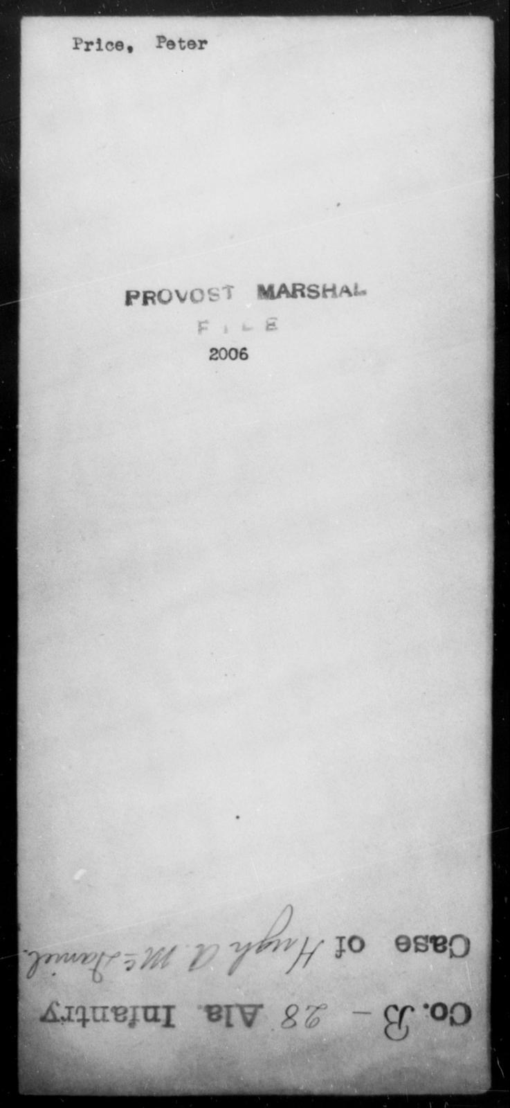 Price, Peter - State: [Blank] - Year: [Blank]