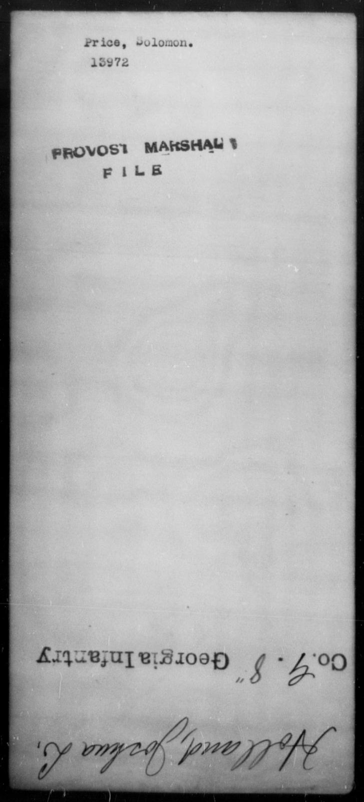 Price, Solomon - State: [Blank] - Year: [Blank]