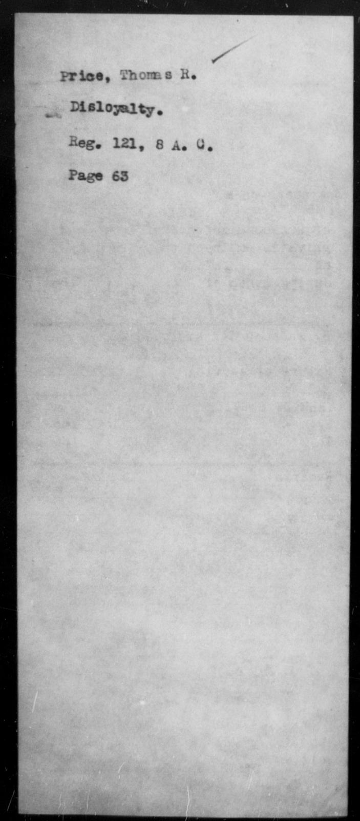 Price, Thomas R - State: [Blank] - Year: [Blank]